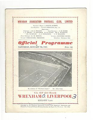 Wrexham v Liverpool 1962 - 1963  FA Cup 3rd round