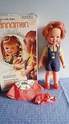 Boxed 1974 Curly Ribbons Cinnamon Ideal Crissy Doll With Two Outfits
