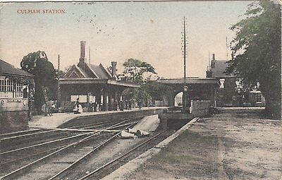 CULHAM nr OXFORD Railway Station INTERIOR VIEW Rare
