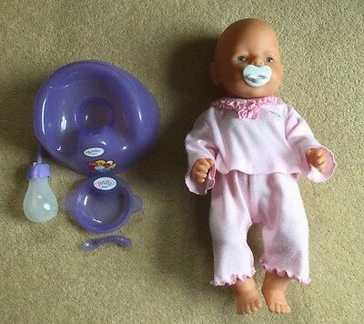 Baby Born Girl Doll With Potty And Accessories
