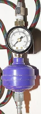 Sharpe Air gauge/regulator with hose and attachments