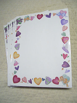 """Valentine Heart Stationery, Printer Paper, 200 Sheets, 8 1/2"""" By 11"""", New, Nip"""