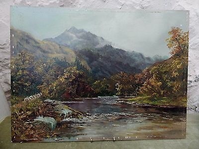 """Quality Oil Painting On Board Highland Scenery Signed PMH 16"""" x 12"""""""