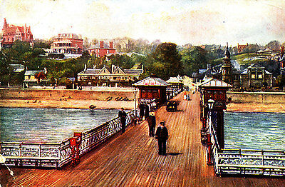 GLAMORGANSHIRE : 1906 Postcard of Penarth from the Pier