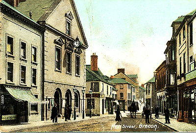 1907 Postcard of High Street, Brecon - Shop Fronts