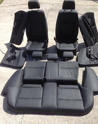 BMW 3 Series E91 Touring LCi Se Full Black Leather Interior Seats Door Cards