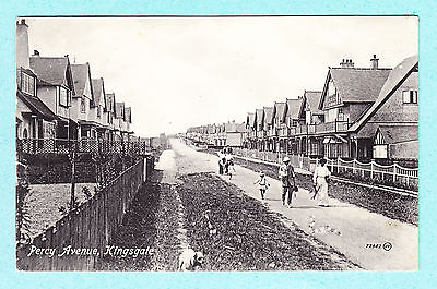 Printed Postcard Percy Avenue Kingsgate Broadstairs Kent CT10 Street Some faults