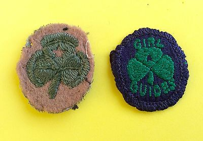 2 VINTAGE Girl Guide 2nd CLASS  BADGES. 1919 & 1960