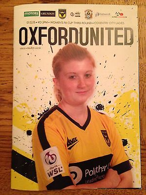 Oxford Utd Ladies v Coventry City Ladies -FA Cup 3rd Round - Played 1st Feb 2015