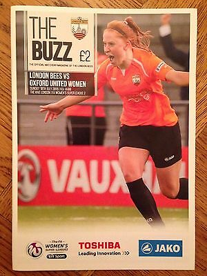 London Bees v Oxford United Women - WS League Programme - 10/07/16