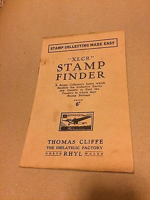 GB  XLCR Stamp Finder and Collector's Dictionary 6d 16 Page