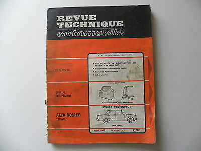 revue technique automobile RTA ALFA - ROMEO GIULIA n° 252