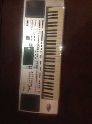 korg keyboard PA50 with stand, stool, cover & manual