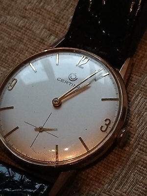 Vintage swiss made  Certina 7006 094 Gold Plated Men's Watch with 17 Jewels