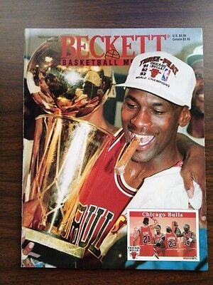 Beckett Basketball Cards September, 1993 Issue with Michael Jordan on the cover