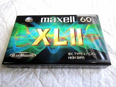 CASSETTE TAPES BLANK SEALED - 1 x (one) MAXELL XLII 60 (type II) [1998-2000]