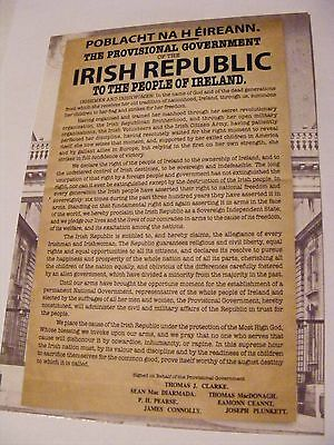 SUPERB POSTCARD NEW IRISH PROCLAMATION - EASTER RISING Irish Republican History