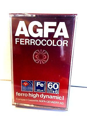 CASSETTE TAPE ¡SEALED! 1x (one) AGFA ferrocolor 60+6 [1979] made in Germany NEW