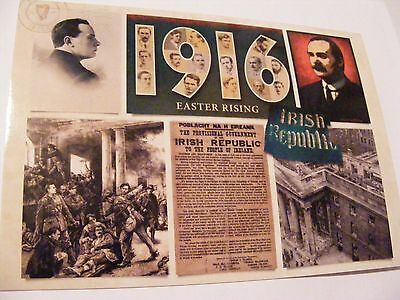 Superb 1916 Easter Rising Postcard Pearse Connolly Gpo Irish Proclamation Sf Ica