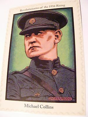 SUPERB 1916 EASTER RISING REVOLUTIONARIES POSTCARD MICHAEL COLLINS IRB Sinn Fein
