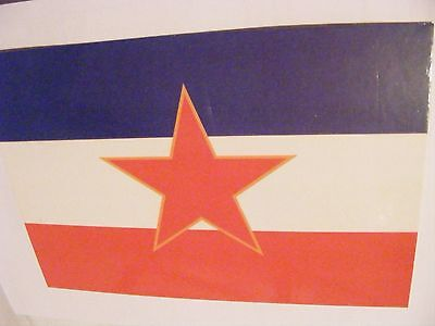 SUPERB SOCIALIST FEDERAL REPUBLIC OF YUGOSLAVIA National Flag Postcard Partisans