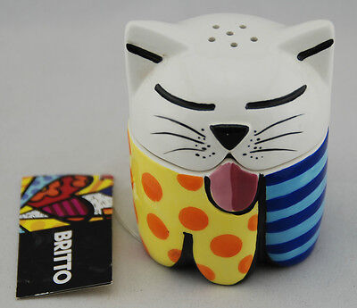 Cat Salt and Pepper Set by Romero Britto 330311 *NEW* (78)