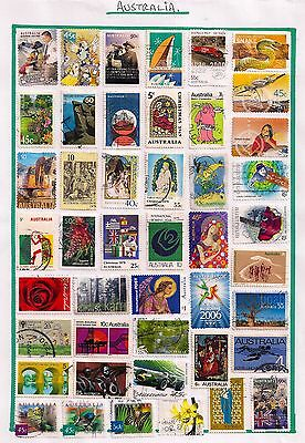 Australia- Selection Of Fine Used Qeii Stamps On Album Page.good Lot.