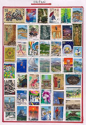 Japan- Selection Of Fine Used Stamps On Album Page.all Different.very Nice Lot.