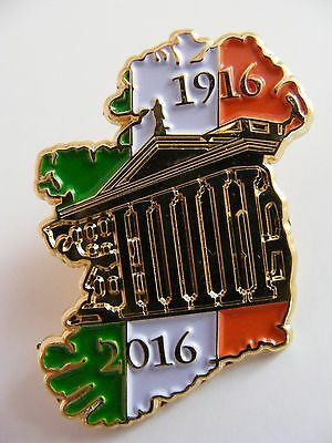 SUPERB IRELAND Shaped EASTER 1916 2016 Irish Republican Centenary Pin Badge GPO
