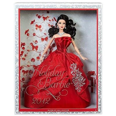 BARBIE HOLIDAY 2012 BRUNETTE NRFB - model muse doll collection da collezione