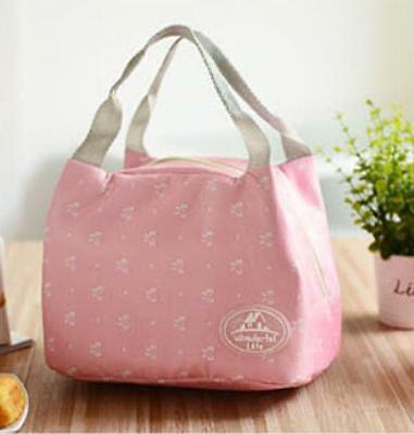 Portable Insulated Lunch Bag Tote Picnic Cooler Zipper Organizer LunchBox
