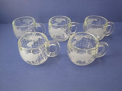 Vintage Nescafe World Mugs,  Lot Of 5, Excellent Condition, Look !