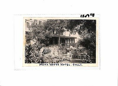 P621 1938 EGYPT Cairo Mena House Hotel RP Postcard Unposted