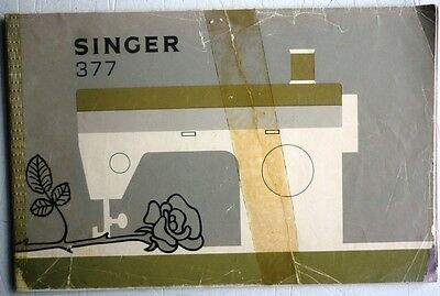 Electric Singer Sewing Machine Instruction Handbook Model 377
