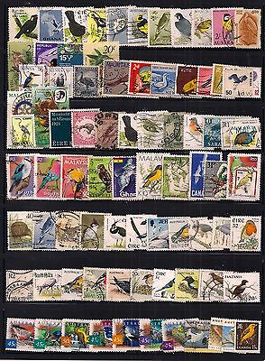 Thematics- Commonwealth Selection Of 80 Birds On Stamps Fine Used.very Nice Lot.