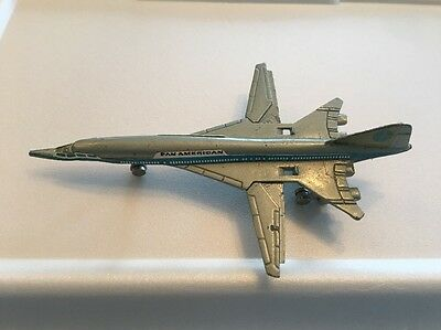 Rare Vintage Pan American Boeing SST Supersonic Clipper Moveable Wings Die Cast