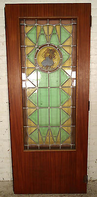 Hand Painted Stained Glass Door (1961)NS