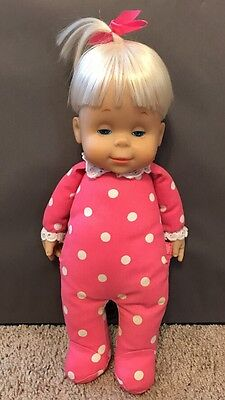 Mattel Talking Drowsy Doll Says 6 Phrases Polka Dots & Bow Works Great
