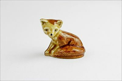 Vintage Wade Whimsies Fox - Porcelain Animal Figurine - Small Collectable