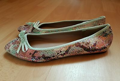 "Dorothy Perkins Iridescent Snakeskin ""Pisa"" Pumps / Shoes UK size 6, Brand New"