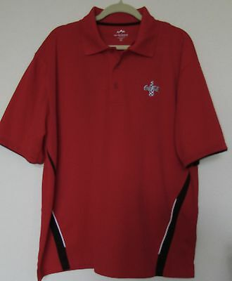 Nascar Red Coca-Cola Polo Shirt-XL-Excellent condition-Red with Black