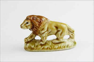 Vintage Wade Whimsies Lion - Porcelain Animal Figurine - Small Collectable