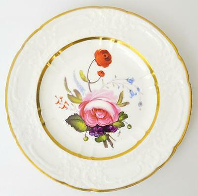 A beautiful hand painted antique plate, Coalport 1860.