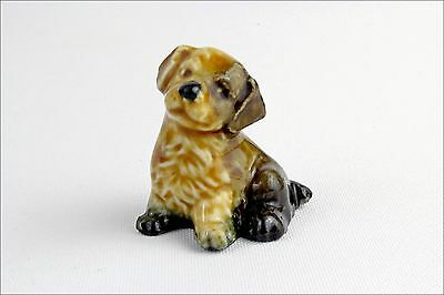 Vintage Wade Whimsies Mongrel Pup - Porcelain Animal Figurine - Collectable