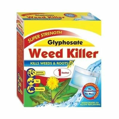 New Weed Killer Pestshield Super Strength Glyphosate Concentrate 72g Kills Roots