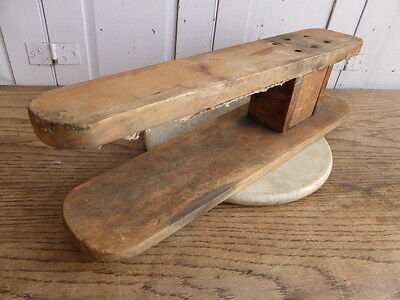 Vintage French wooden ironing arm stand