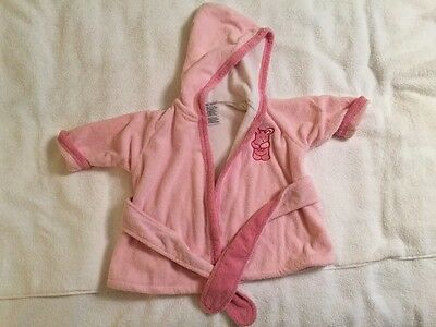Baby Girls Pink Hooded Robe, Baby Deer Brand, Size Small - 6 Months