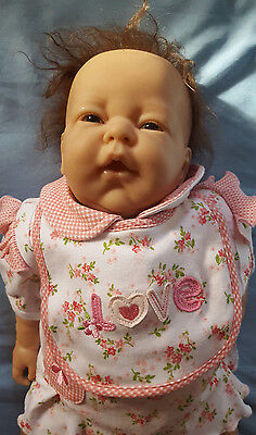 Reborn Berenguer Girl, 204 Sculpt, Rooted with Brown Eyes, Preloved Baby Doll