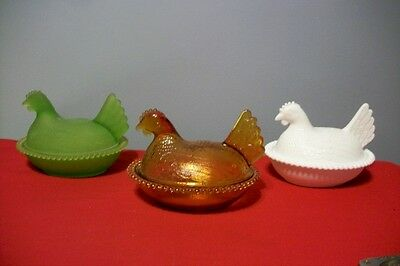 Indiana Glass Nesting Chicken Candy Dishes-3