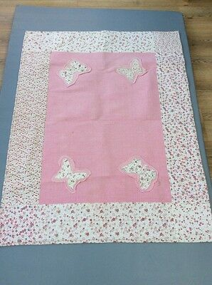 laura ashley girls butterfly pink rug